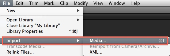 fcp x import 4