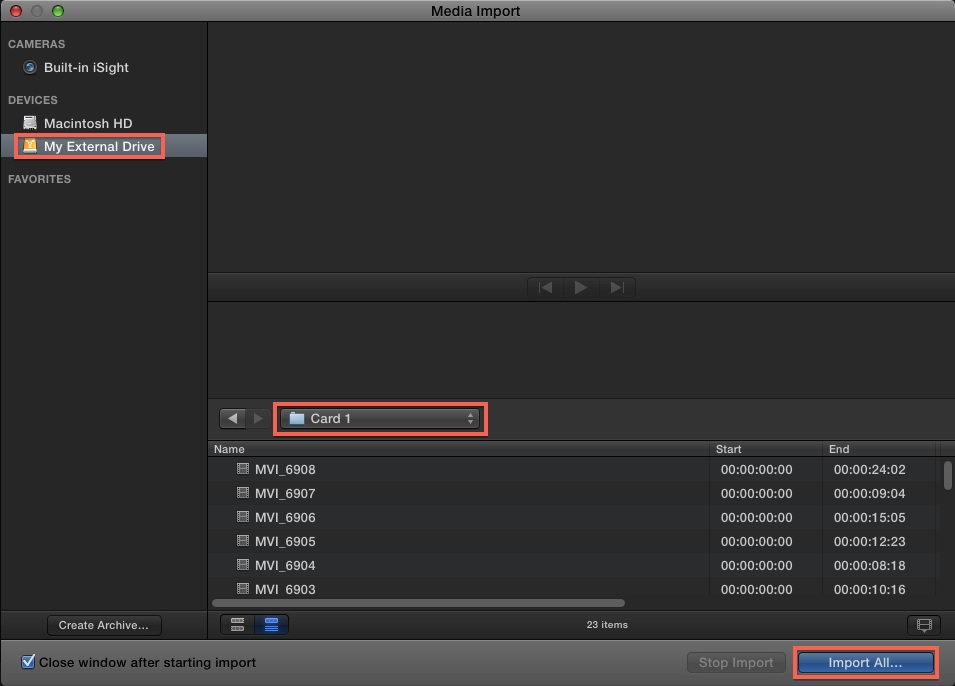 fcp x import 5
