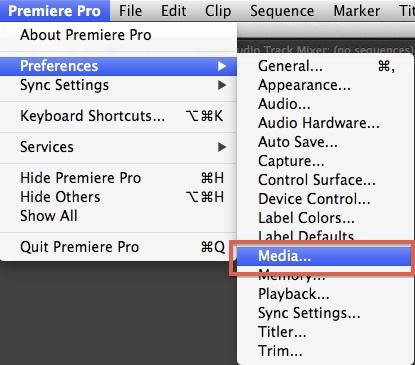 premiere media cache 1