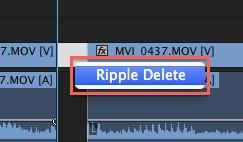 premiere - ripple delete