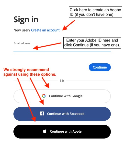 Adobe login step 2