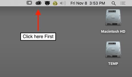 Adobe logout step 1