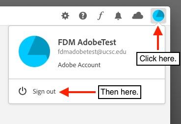 Adobe logout step 2
